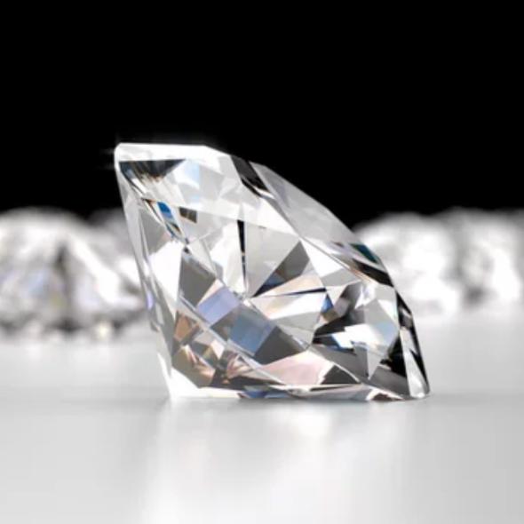 Diamante con corte de casa banchero