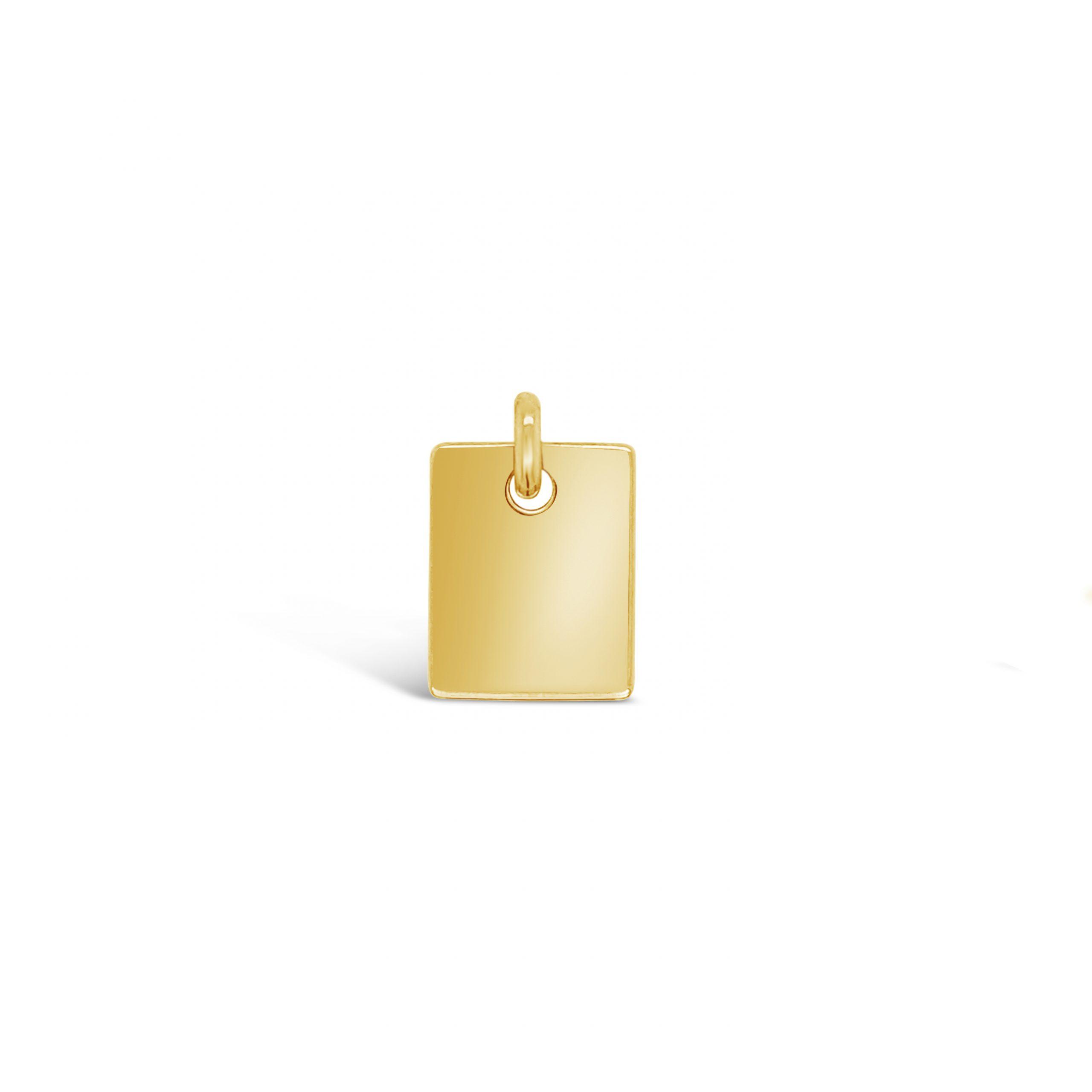 Placa Rectangular Oro 18k